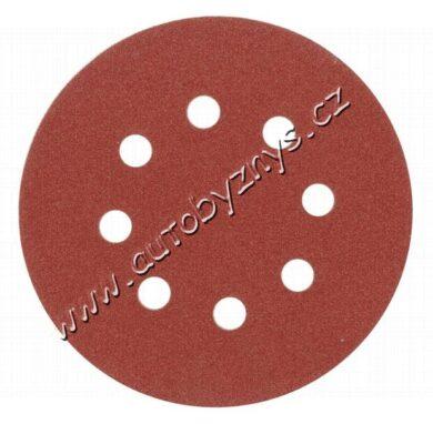 Brusný papír 125 mm P120 s otvory 5 ks suchý zip(TO-08582)