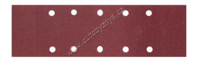 Brusný papír 115x280mm,P60,10otvorů 5ks(21751)