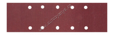 Brusný papír 115x280mm,P80,10otvorů 5ks(21752)