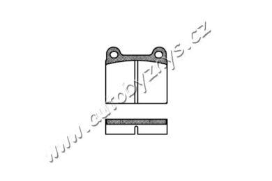 Brzdové destičky přední REMSA 0006.00-MERCEDES(RE 00600)
