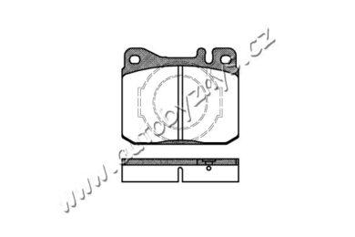 Brzdové destičky přední REMSA 0010.40-MERCEDES,VW(RE 01040)