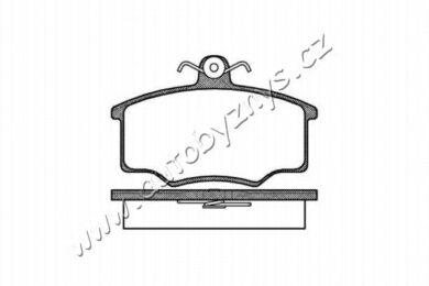 Brzdové destičky přední REMSA 0046.00 Audi,WV(RE 04600)