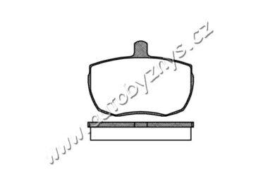 Brzdové destičky přední REMSA 0056.00 Ford,Land Rover(RE 05600)
