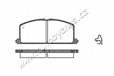 Brzdové destičky přední REMSA 0167.04-TOYOTA(RE 16704)