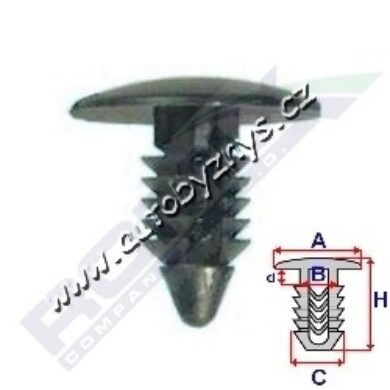 Příchytka čalounění Citroen,Daewoo ROMIX 10021(17112)