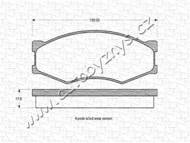 Brzdové destičky přední REMSA 0184.00-NISSAN(RE 18400)
