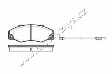 Brzdové destičky přední REMSA 0220.02-RENAULT(RE 22002)