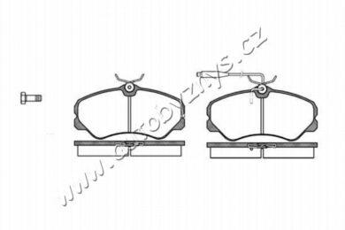 Brzdové destičky přední REMSA 0261.02 Citroen,Fiat,Peugeot(RE 26102)