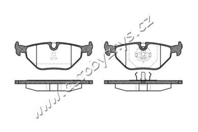 Brzdové destičky zadní REMSA 0265.00-BMW(RE 26500)