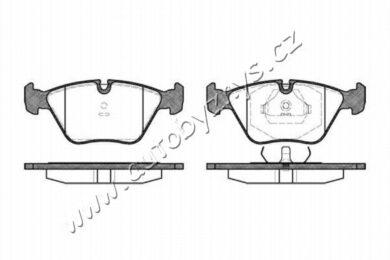 Brzdové destičky přední REMSA 0270.00-BMW(RE 27000)