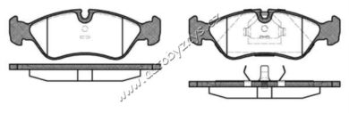 Brzdové destičky přední REMSA 0286.10-OPEL(RE 28610)