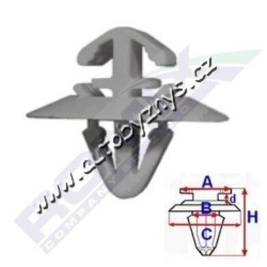 Příchytka boční lišty Iveco,Opel,Renault ROMIX 71187(17203)