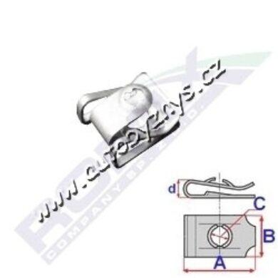 Matice plechová 23,1x19x4,6 Audi,BMW,Mini ROMIX C60630(17246)