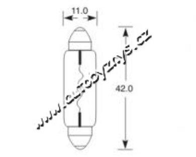 Žárovka 6V 10W sufit SV8,5 11x42 ELTA(3851)