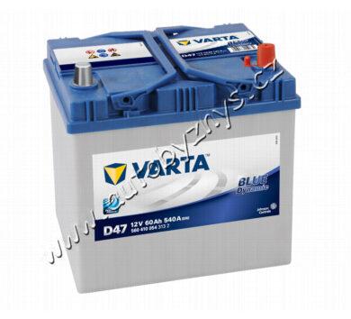 Autobaterie 12V/60Ah 540A VARTA Blue dynamic (Asia typ)(17348)