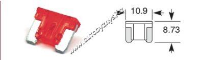 Pojistka plochá MIKRO 10A červená ELTA(17356)