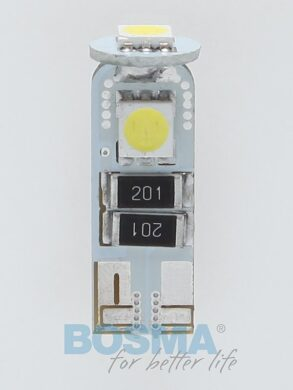 12V T10 LED žárovka 3xLED SMD 5050 CANBUS bílá BOSMA blistr 2ks(LED4144)
