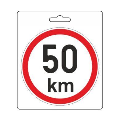 Samolepka omezená rychlost 50km/h (110 mm)(34484)
