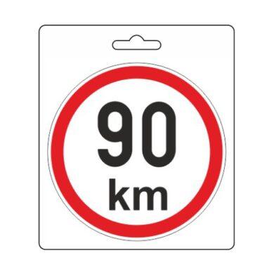 Samolepka omezená rychlost 90km/h (110 mm)(34487)
