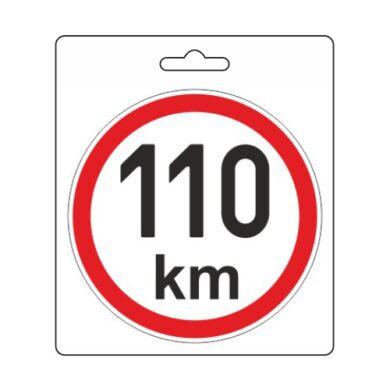Samolepka omezená rychlost 110km/h (110 mm)(34489)