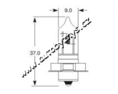 ELTA 12V 15W P26s HALOGEN(4446)
