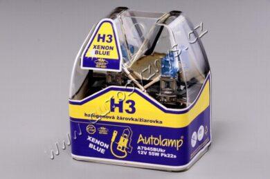 12V H3 55W PK22s XENON BLUE AUTOLAMP sada 2ks(17567)