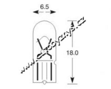 Žárovka 12V 1,7W T6,5 ELTA(4516)