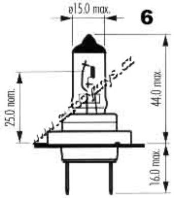 Žárovka 12V H7 55W Px26d Spektrum NARVA(4518)