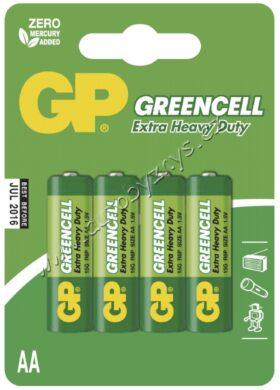 GP Zinkochloridová baterie Greencell R6 (AA), blistr 4ks(17634)