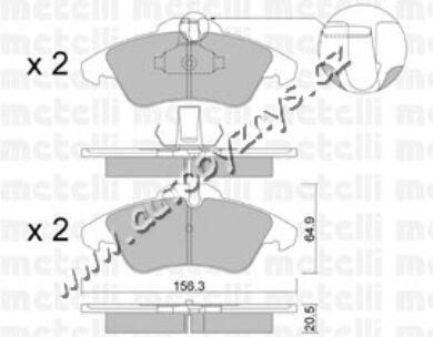 Brzdové destičky přední Mercedes Sprinter,Vito,VW LT HITEC(4522)