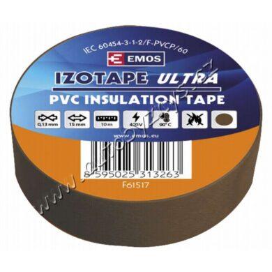 EMOS Izolační páska PVC 15mm / 10m hnědá(17765)
