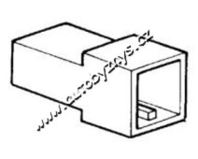 Obal zástrčky s jazýčkem 6,3mm-2 póly(4700)