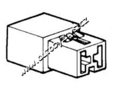 Obal objímky s jazýčkem 6,3mm-2 póly(4701)