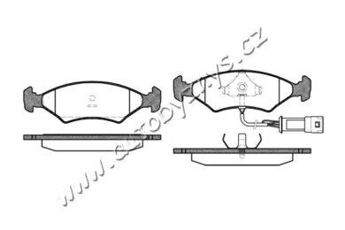 Brzdové destičky přední REMSA 0119.32 FORD(RE 11932)