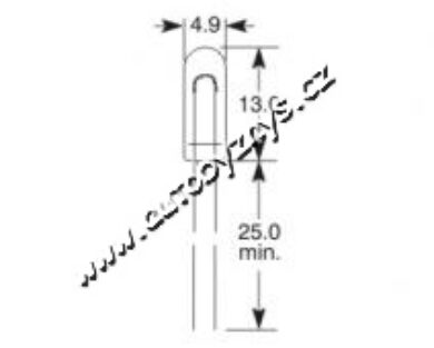 Žárovka 12V 100mA T1 1/2 4,9x13 ELTA(4895)