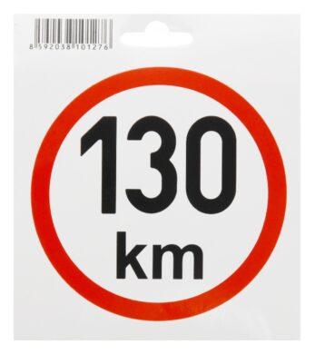 Samolepka omezená rychlost 130km/h (200mm)IR(34497)