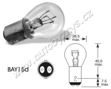 Žárovka 12V 21-5W BaY15d ELTA(754)