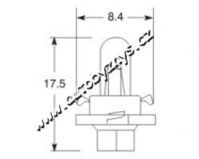 Žárovka 24V 1,8W B8,4d ELTA(5810)
