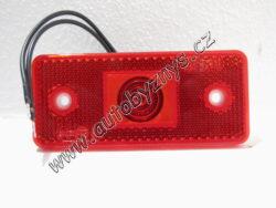 Lampa W-17 červená