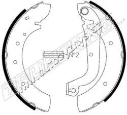 Brzdové čelisti Citroen/Fiat/Peugeot sada TRUSTING-Sirka v mm: 57 brzdovy system: LUCAS