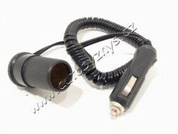 Kabel prodlužovací do zapalovače 2m s diodou