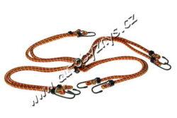 Gumicuky(pavouk)8-ramenný-Elastické gumové víceramenné popruhy, opletené polyesterem a zakončené háky z ocelových poplastovaných drátů k uchycování zavazadel.