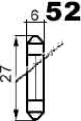 Žárovka 24V 3W SV6 6x25 NARVA
