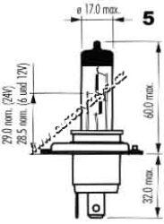 Žárovka 12V H4 60/55W Allseason Super OSRAM-SLEVA 34%