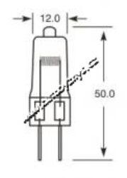 OSRAM Žárovka 12V 50W GY6,35 sklo