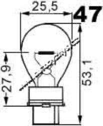 NARVA Žárovka 12V 32W S25 žlutá 503156A