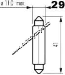 Žárovka 24V 10W SV8,5 modrá NARVA