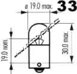 Žárovka 12V 10W Ba15s oranžová