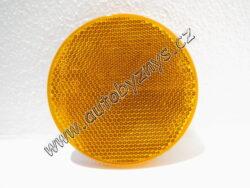Odrazka samolepící průměr 80mm oranžová 4021008