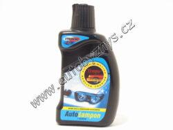 Autošampon s voskem 300ml TEMPO-Rozsah použití: speciální mycí a konzervační šampon na karoserie, včetně metalíz. Obsahuje voskovou emulzi v roztoku tenzidů a rozpouštědel. Roztok umožňuje dokonale odstranit nečistoty z karoserie. V Autošamponu jsou obsažené vosky, které vytváří po umytí na karoserii ochranný film. Přípravek je vhodný pro krátkodobou konzervaci. Obsahuje dobře biologicky rozložitelné tenzidy
